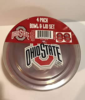 MRL Sports NCAA Ohio State Bowl and lid Set, 4 Pack 28 oz