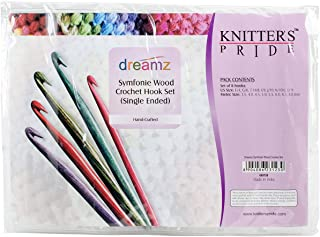 Knitter's Pride Dreamz Single Ended Crochet Hook Set, E/3.5mm to L/8mm