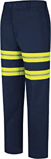 Men's Stain Resistant Enhanced Visibility Flat Front Work Pants