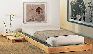 Cama de madera modelo Nokido 90 x 200 con láminas y tatami