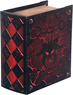 Grimoire Pro Tour, Hellbent | Wooden Spellbook Style Fabric Lined Portable Deck Box for MTG, Yugioh, and Other TCG | 350+ Card Capacity