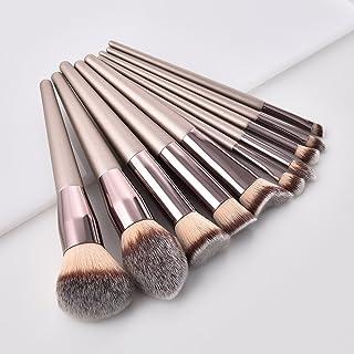 GUJHUI Professional 10Pcs Makeup Brush Set Powder Foundation Brush Eyebrow Eyeshadow Cosmetic Make Up Tools Toiletry Kit f...