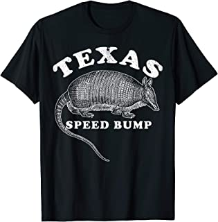 Texas Speed Bump 9 Banded Armadillo Funny T-Shirt