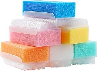 ZIZNBA 12PCS Baby Bath Time Sponge Brush- Body, Hair, and Scalp Cleaning - Gentle on Infant, Toddler Sensitive Skin - Grea...