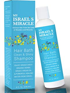 Herbal Shampoo – My Israel's Miracle Clean & Shiny Shampoo with Argan Oil – Powerful Organic Haircare Herbs from Israel (8 Ounce)