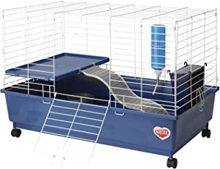 """Kaytee My First Home hábitat para Mascotas de 2 Niveles, Azul, 30"""" x 18"""""""