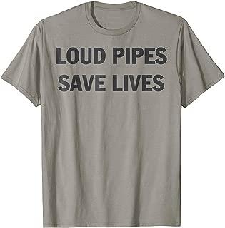 LOUD PIPES SAVE LIVES Motorbike Dirtbike Motocross T-Shirt