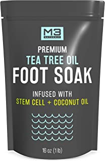 Sponsored Ad - M3 Naturals Tea Tree Oil Foot Soak Infused with Stem Cell and Coconut Oil Epsom Salt for Athletes Foot Stub...