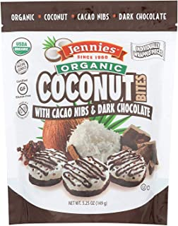JENNIES, CCNUT BITES, OG2, CACAO CHC, Pack of 6, Size 5.25 OZ - No Artificial Ingredients Gluten Free Wheat Free Yeast Free 95%+ Organic