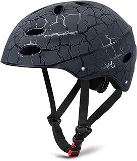 کلاه ایمنی اسکیت بورد KUSTAR ، کلاه ایمنی دوچرخه قابل تنظیم ، کلاه ایمنی اسکیت برای دوچرخه سواری ایمنی / اسکیت / اسکوتر / اسکیت داخلی ، CPSC دارای گواهینامه برای دختران / دختران نوجوان