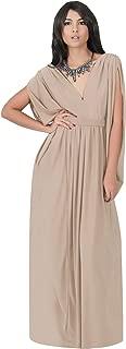 Womens Long V-Neck Summer Sexy Gown Grecian Flowy Sleeveless Maxi Dress