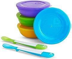 Munchkin Love-a-Bowls 10 Piece Feeding Set, Multicolor