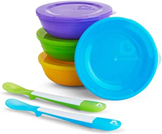 Munchkin Love-a-Bowls 10 Piece Feeding Set, Colors May Vary