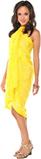 1 World Sarongs Women's Dragonfly Swimsuit Cover up Sarong
