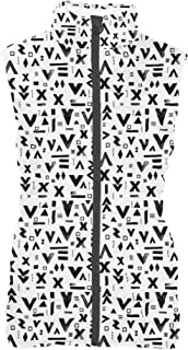 Rainbow Rules Inked Geometric Symbols Womens Puffer Vest Bodywarmer Gilet