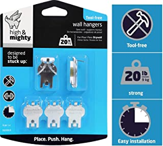 HIGH & MIGHTY 515313 Tool Free Picture Hanging Kit, 5 Pieces, 20LB Limit