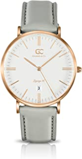Gelfand & Co. Women's Minimalist Watch Light Gray Leather Chrystie 36mm Silver with White Dial