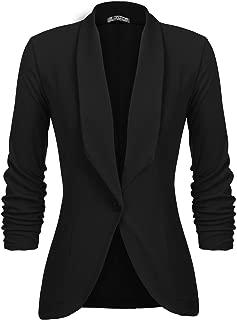 Pinspark Damen Slim Fit Blazer /& Sakko Elegant Anzugjacke Kurzblazer Sweatblazer Cardigan D/ünn Kurzjacke Leicht Bolero Jacke