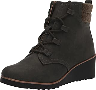 LifeStride Women's Zone Ankle Boot, Olive, 6