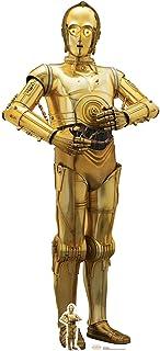 Star Cutouts Ltd Corte C-3PO (El último Jedi), cartón, Multicolor, 179 x 80 x 179 cm