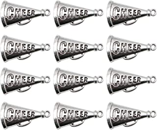 JETEHO 20 pcs Metal Cheer Megaphone Charms for Bracelets Jewelry Making Bulk