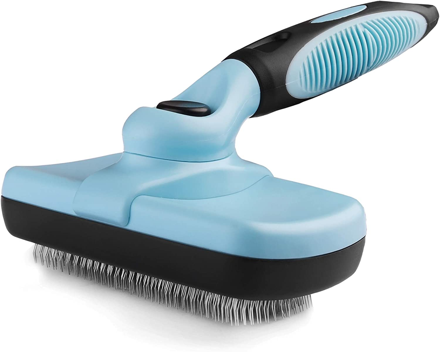 Pets First SELF CLEANING SLICKER BRUSH for PETS DOGS & CATS - Retractable Design for Quick & Easy Pet Fur Removal - Fine & SAFE Bristles To Detangle & Massage DOG SKIN or CAT SKIN – NEW SPECIAL DESIGN