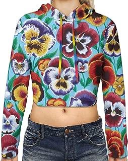 Girls Slim Fit Hoodie Crop Top Hip-Hop Office Hooded Sportswear