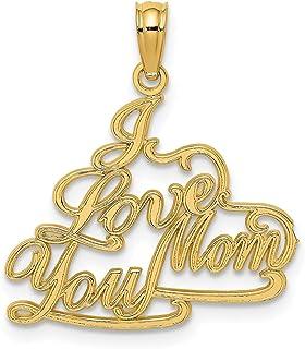 Lex /& Lu 14k White Gold #1 Mother in Heart Frame Pendant