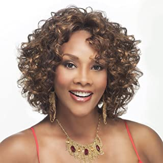 Vivica A. Fox CHILLI-V Synthetic Fiber, Deep Lace Front Wig in Color CABERNET