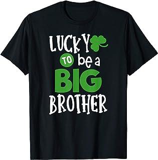 Big brother st Patricks day Pregnancy Announcement shirt T-Shirt