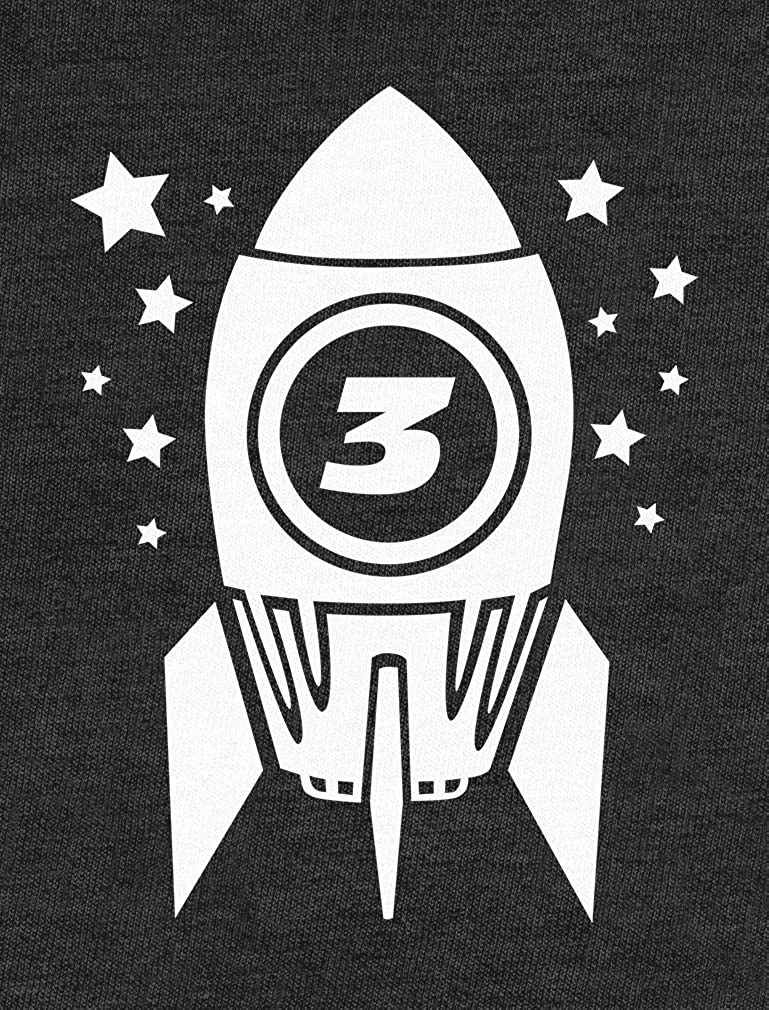 Gift for 3 Year Old 3rd Birthday Space Rocket Toddler Infant Kids T-Shirt