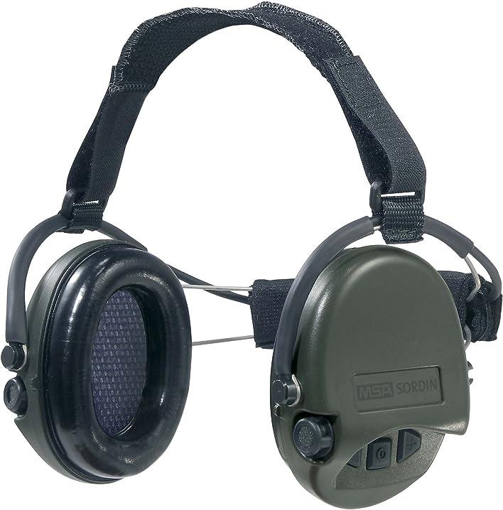 Cuffie antirumore supreme pro iv, ideali per caccia e tiro a segno, colore: verde msa sordin SOR501