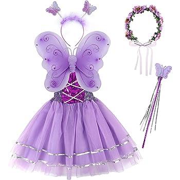 Vivianu - Juego de 4 piezas de alas de mariposa de hada para niñas ...