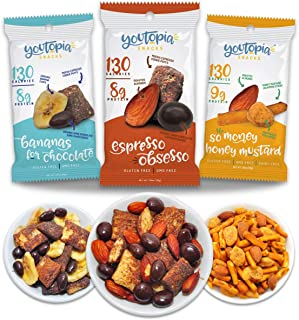 Youtopia Snacks Delicious 130-calorie Snack Packs, High-Protein Low-Sugar Low-calorie Gluten-free GMO-free Healthy Snacks,...