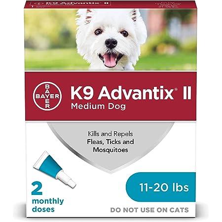 K9 Advantix II Prevención de pulgas y garrapatas para perros medianos, 11-20 libras