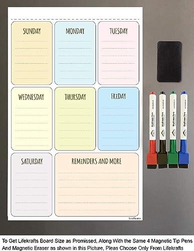 Lifekrafts Magnetic Planner Sheet - Dry, Erase Board product image