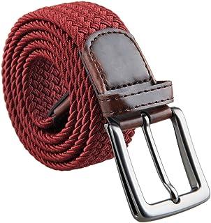 Negro//Marr/ón//Rojo//Blanco//Gris//Burdeos Hecho en Alemania Ancho 3 cm Cintur/ón de cuero real para mujeres y hombres
