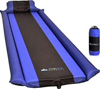 IFORREST Sleeping Pad w/Armrest & Pillow - Phenomenal Comfort Backpacking Air Mat for Cot Bed and Hammock - Self-Inflating Tent Camping Mattress!