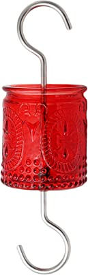 AMAURAS Red Glass Ant Moat for Hummingbird Feeder