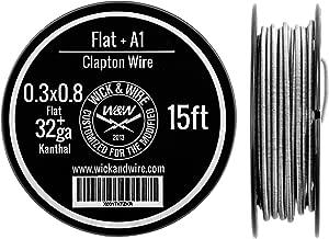 Clapton Wire - Heat Resistance Wire Spool (0.3x0.8 Flat, 32ga Kanthal, 15 ft)