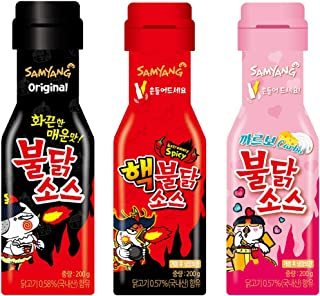 [Samyang] Carbo Bulldark Spicy Chicken Roasted Sauce + Bulldark Spicy Chicken Roasted Sauce + Hack Bulldark Spicy Chicken Roasted Sauce 3 sets/Fire Noodle Challenge (overseas direct shipment)