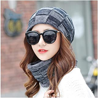 WYMAI Hat Female, Autumn and Winter Bonnet, Knit Hat, Simple and Practical Product (Color : Gray)