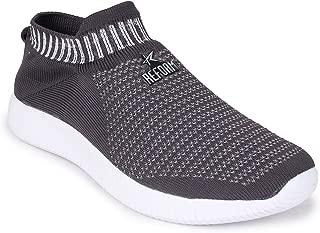 REFOAM Men's Grey & White Mesh Sport Shoe