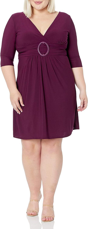 Star Vixen Women's Plus-Size A-Line O-Ring Dress