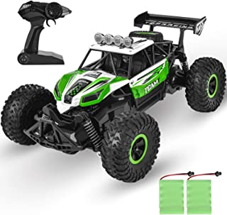 GotechoD Kids Remote Control Car High Speed RC Cars Off Road 1:16 RC Truck Monster Vehicle with 2 Rechargeable Batteries, 2019 Newest Fast Racing Car Toy for Age 4 16 Year Old Boys Girls Xmas Gifts