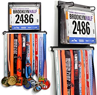 Best Gone For a Run BibFOLIO Plus Race Bib and Medal Display | Wall Mounted Medal Hanger – Displays up to 24 Medals and 100 Race Bibs Review