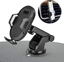 Car Phone Mount - Universal Vehicle Dashboard Cellphone Holder, Windshield Air Vent Long Arm Strong Suction Cell Phone Car Mount,Anti-Slip, Anti-Scratch and Anti-Falls Pad - Adjustable Bracket