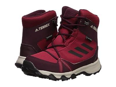 adidas Outdoor Kids Terrex Snow Sneaker Boot (Little Kid/Big Kid) (Active Maroon/Black/Maroon) Girls Shoes