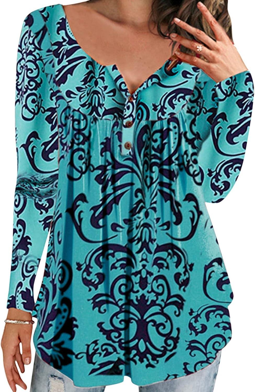 felwors Pullover Tops for Women, Womens Casual Gradient Tops Crewneck Long Sleeve Loose Kawaii Pullover Sweatshirt