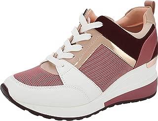 Yolanda Zula Women's Hidden Wedge Sneakers High Heel Fashion Lightweight Walking Shoes